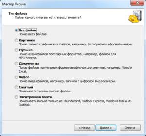 Recuva type files