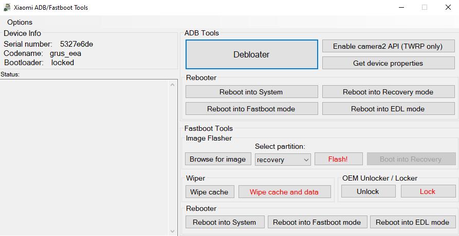 Нажимаем на кнопку Debloater